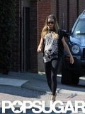 Gisele Bundchen showed off her baby bump in Boston.