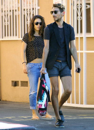 Mila Kunis stopped by a nail salon with a friend in LA.
