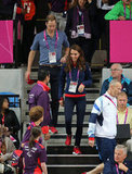 Kate Middleton wore red sneakers.