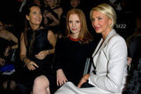 Jessica Chastain and Cameron Diaz saw the Giorgio Armani Privé Haute Couture show in January 2012 in Paris.