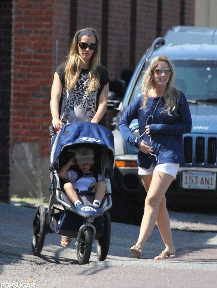 Gisele Bundchen pushed Benjamin to the park in Boston.