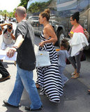 Jennifer Lopez held hands with Emme Anthony.