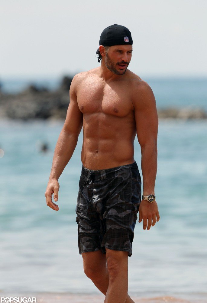 Joe Manganiello made a shirtless splash in Hawaii in October 2011.