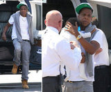Jay-Z Returns to the Big Apple in a Chopper With Blue