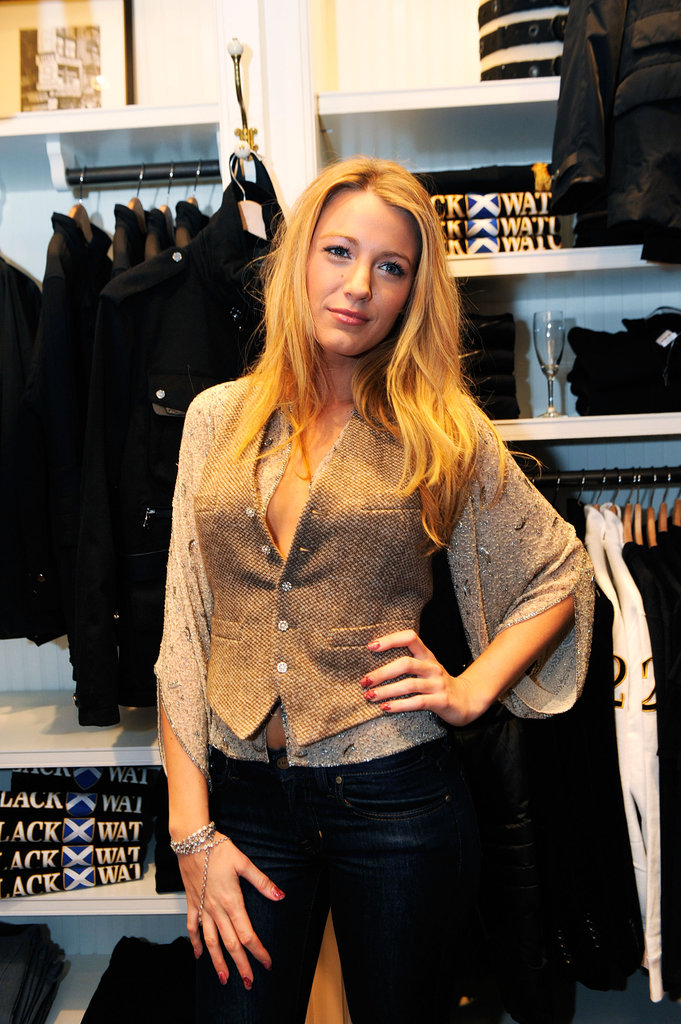 Blake Lively attended the Ralph Lauren store event in 2009.