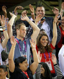Kate Middleton and Prince William did the wave.