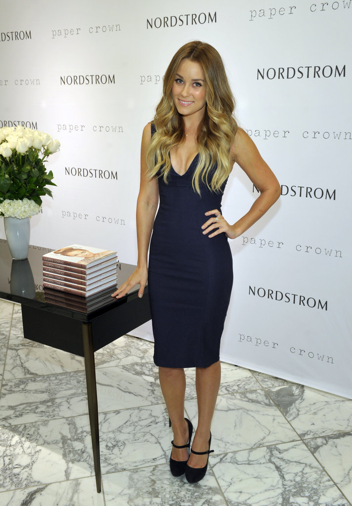 Lauren Conrad hosted an event for her Paper Crown collection at Nordstrom in 2011.