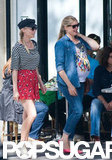 Diane Kruger sported a hat and sunglasses as she and a friend took a walk in Paris.