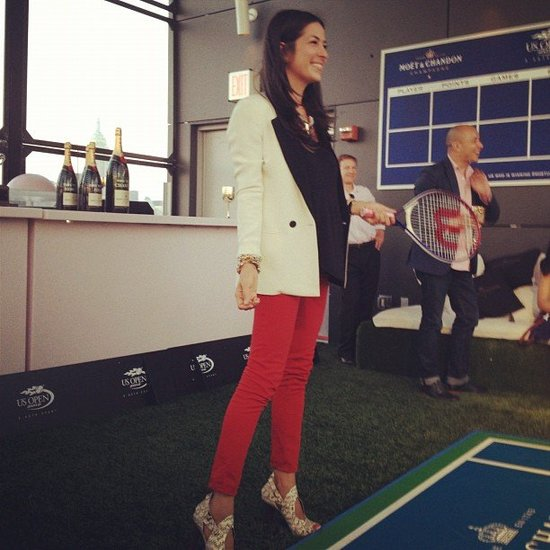 Rebecca Minkoff played some tennis at a US Open event. Source: Instagram user rebeccaminkoff