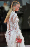 From behind, Fiammetta's feathered Alberta Ferretti creation looked just as princess-like.