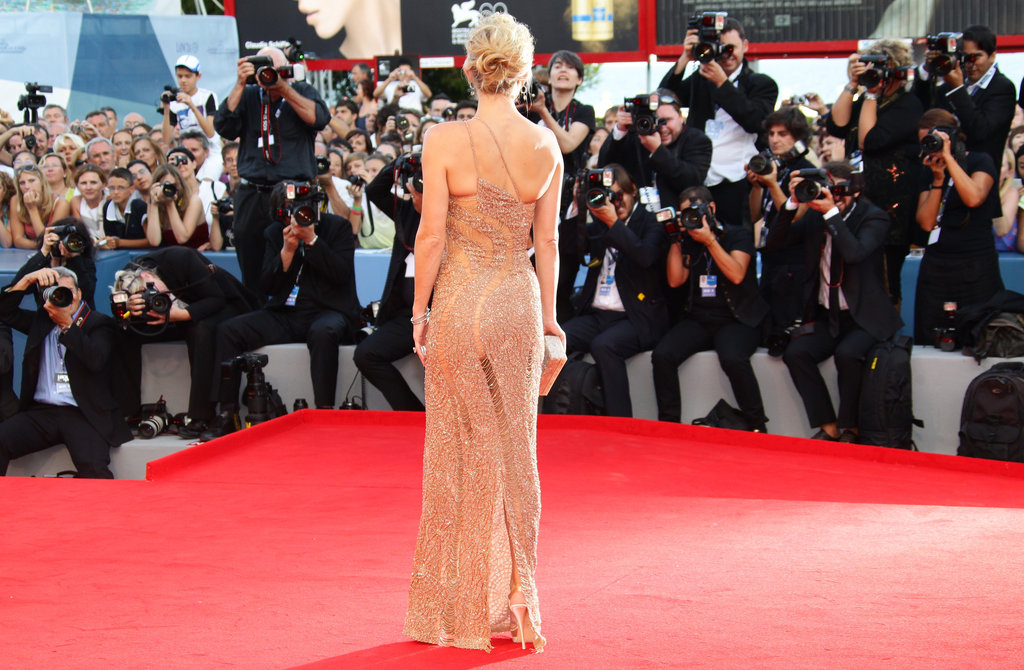 One last look at Kate's profile — a perfect red-carpet choice.