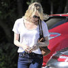 Emma Stone Pictures Leaving Andy Lecompte Salon in LA