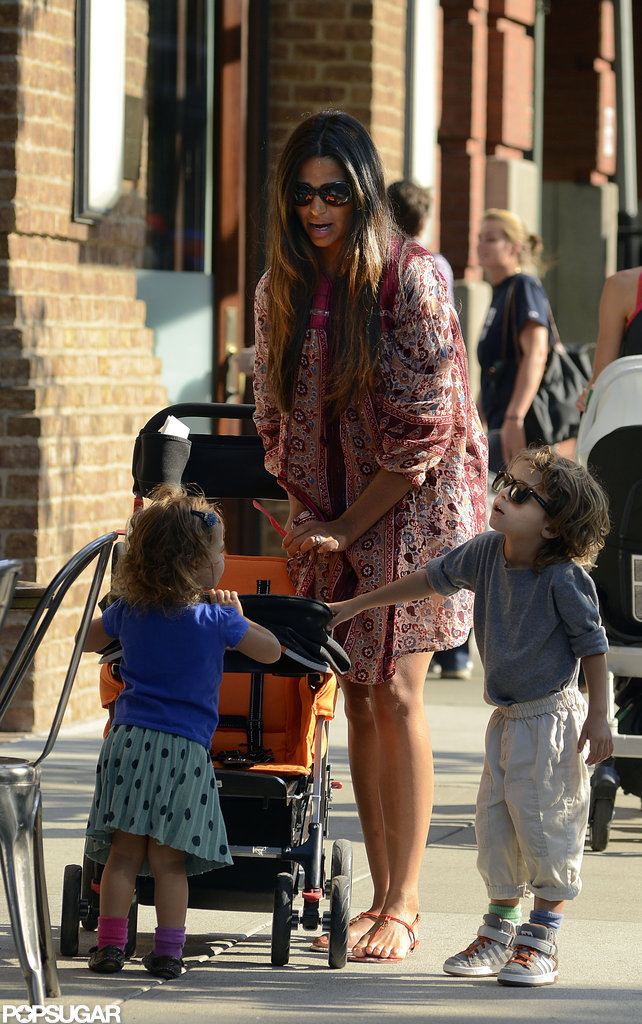 Camila Alves was accompanied by Levi and Vida for a stroll around NYC.