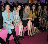 Kate Moss, Kristen Stewart, Romola Garai, Hayley Atwell, Harley Viera-Newton and Laura Bailey were Mulberry buddies in September 2011 in London.