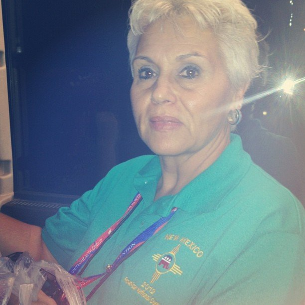 This New Mexico delegate lost her 78-year-old mom somewhere in the bus mania. She said her mom is feisty and will be just fine, though.
