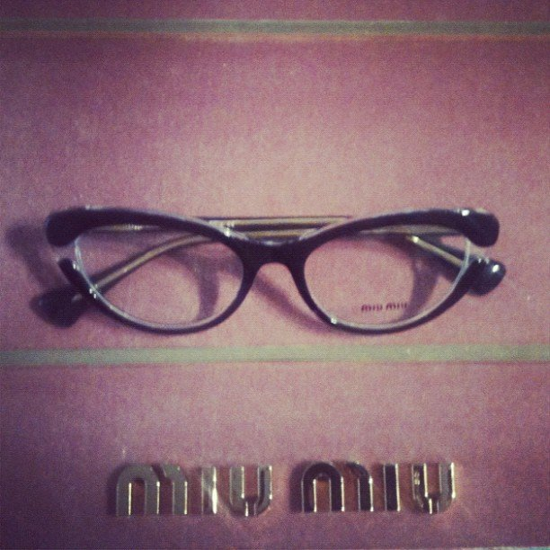 Who knew prescription glasses could be so stylish? Miu Miu goes cats-eye for OPSM, we go gaga.