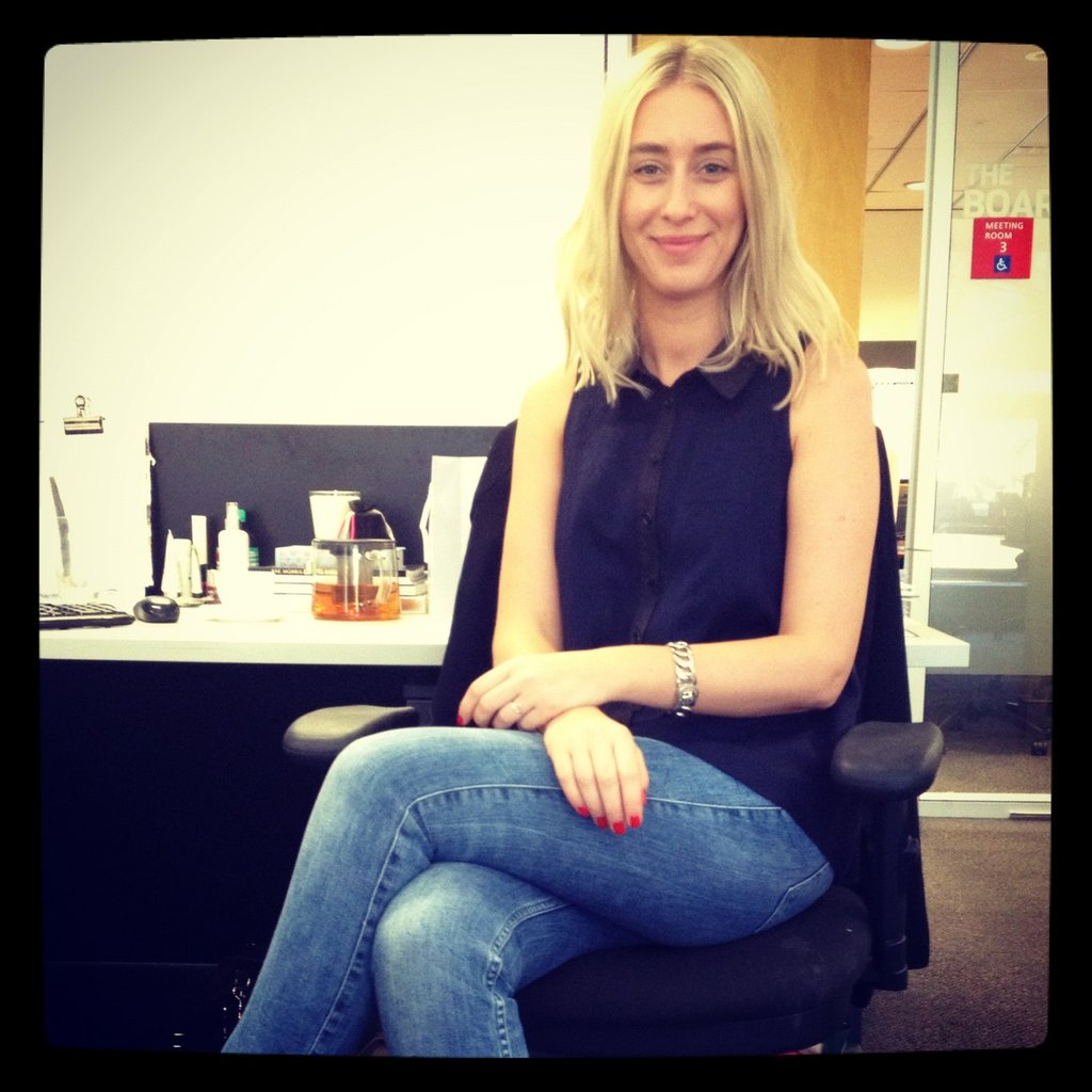 Alison wore Zara jeans, a Cue shirt and Orly Smart Gels on fingers.