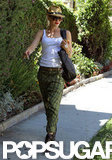Gwen Stefani took to the sidewalk in Beverly Hills.