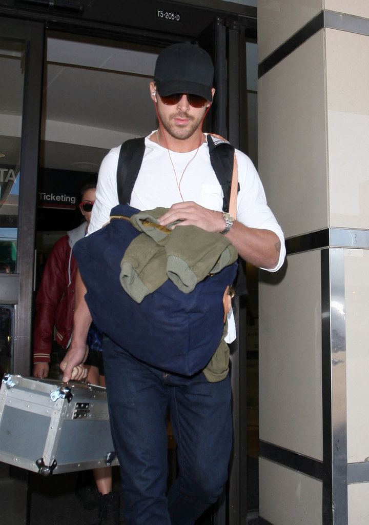 Ryan Gosling rocked a laid-back look in jeans.