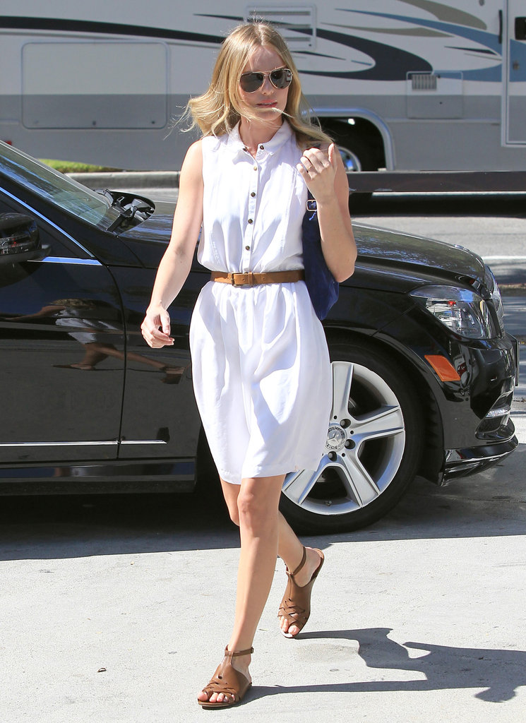 Kate Bosworth walked through West Hollywood.