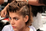 In the final look, soft, feminine waves met the hard lines of a masculine undercut.