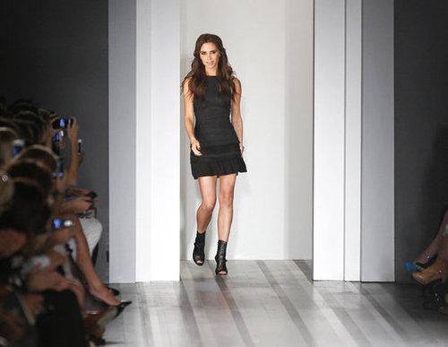 Victoria Beckham took to the runway.