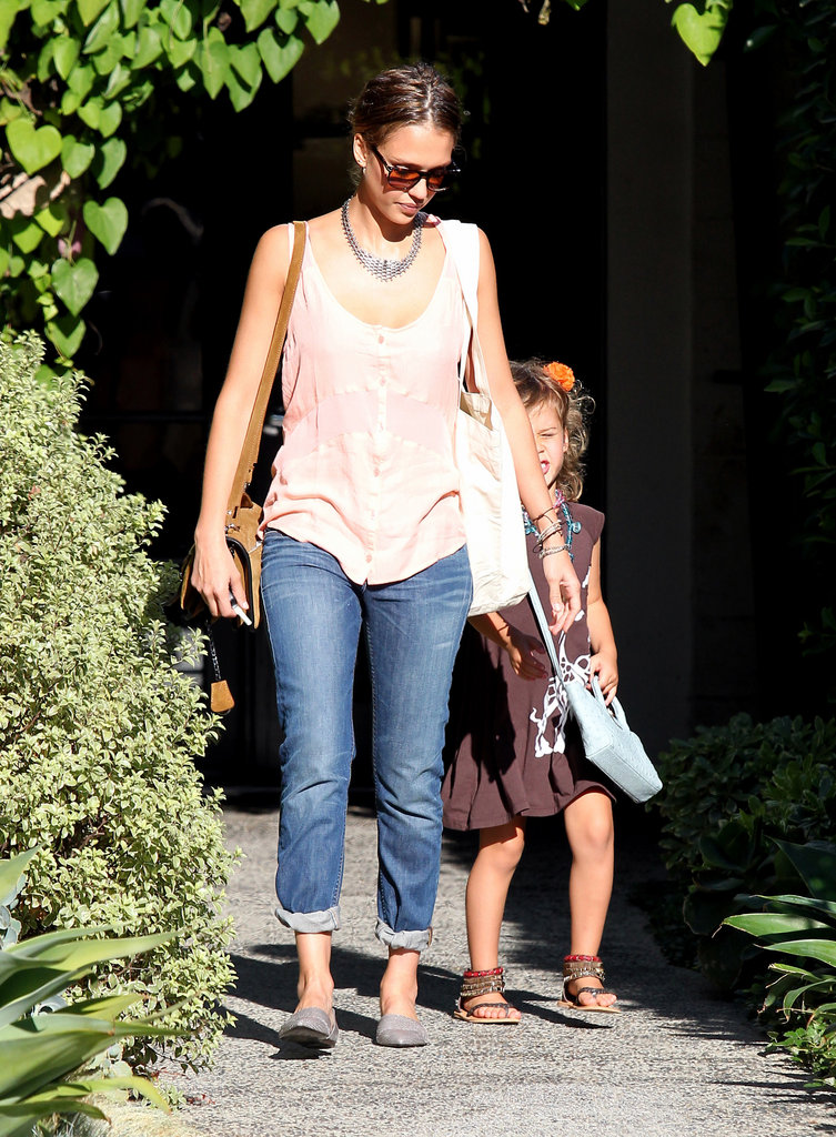 Jessica Alba and Honor Warren left a salon in LA together after getting their hair done.