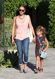 Jessica Alba and Honor Warren held hands after leaving a salon.