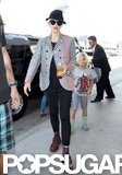 Gwen Stefani departed from LAX with son Kingston in tow.