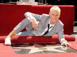 Ellen DeGeneres posed with her star.