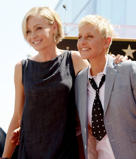 Ellen DeGeneres and Portia de Rossi were all smiles in Hollywood.