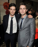 Good-looking guys Adam Brody and Chace Crawford shared a hug at a party hosted by InStyle in 2011.