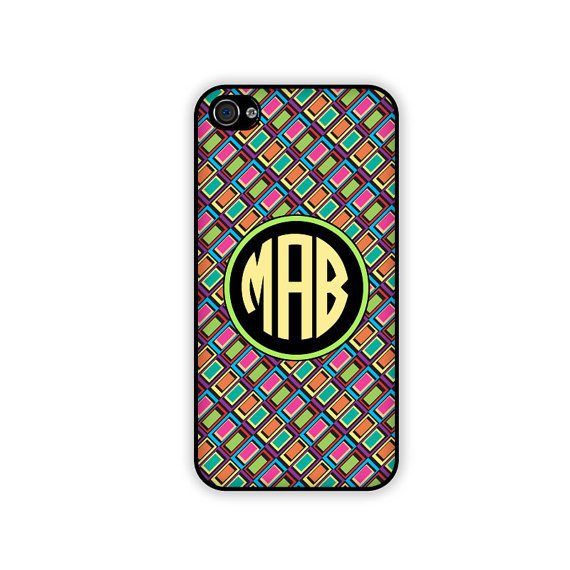 Neon Monogrammed iPhone Case ($17)