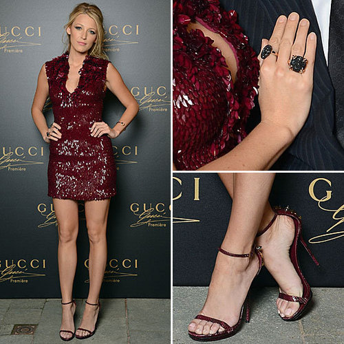 Blake Lively Red Gucci Dress