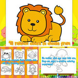 The Coloring Book app allows for both one-touch, auto-fill coloring and freestyle drawing — ideal for kids of any age.