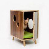 Modernist Cat Midcentury Litter Box Cover