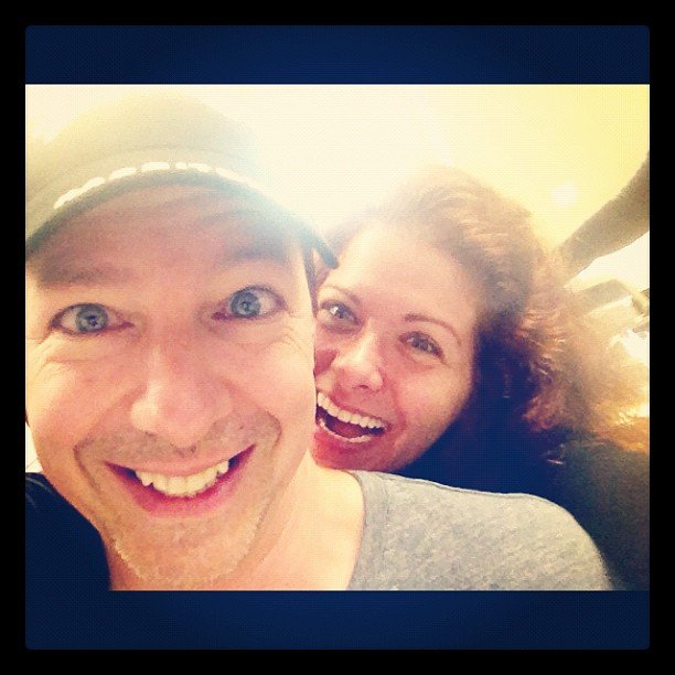 Debra Messing was psyched to reunite with her Will and Grace costar Sean Hayes on the set of Smash Source: Instagram user therealdebramessing