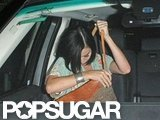 Katy Perry took her purse off after getting into John Mayer's car.