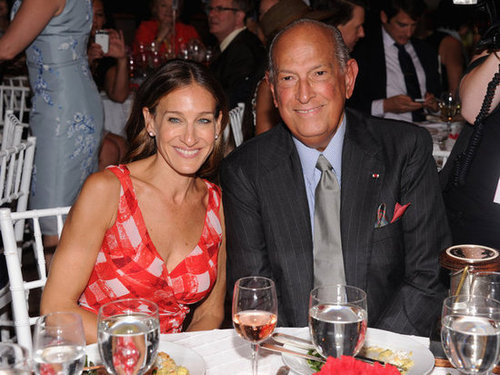 Sarah Jessica Parker joined Oscar de la Renta at the 2012 Couture Council for the Museum at FIT Award for Artistry of Fashion.