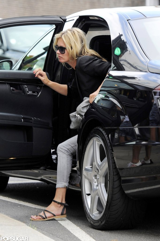 Kate Moss returned to London.