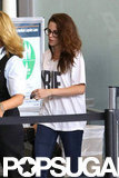 Kristen Stewart made her way through the airport.
