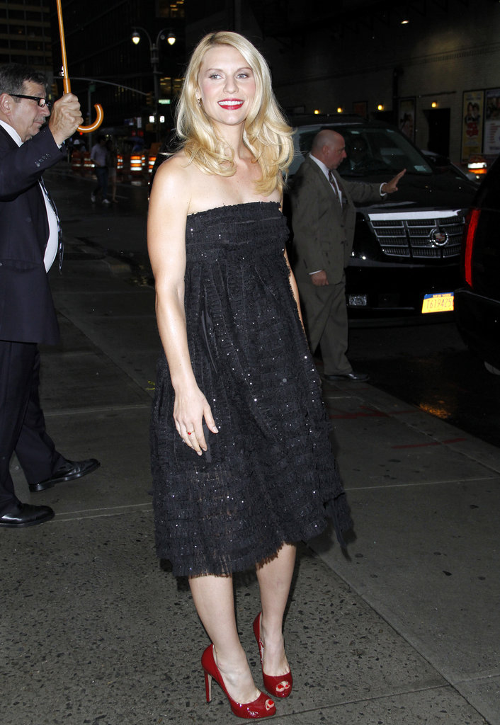 Claire Danes smiled after her visit to Late Show With David Letterman.