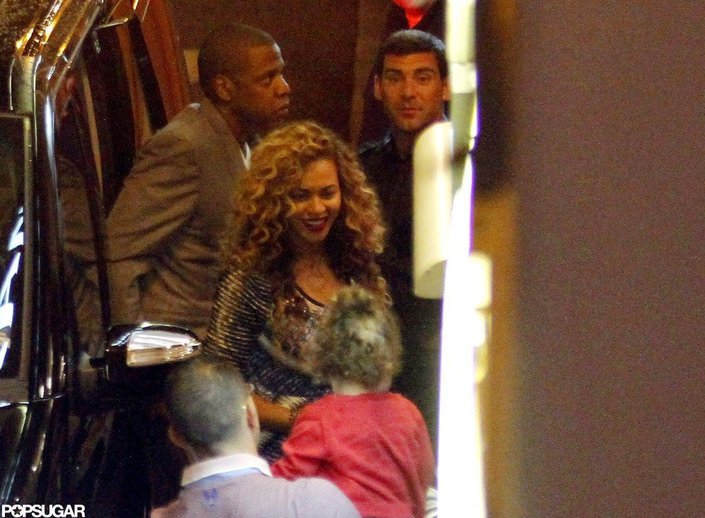 Beyonce Knowles and Jay-Z had a date in Antibes, France.