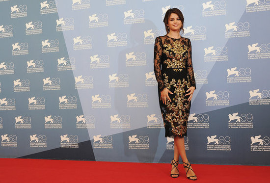 Selena Gomez stepped out for the Spring Breakers photocall at the Venice Film Festival.