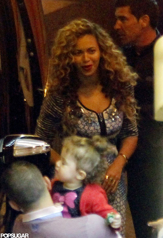Beyonce Knowles wore a dress in France.