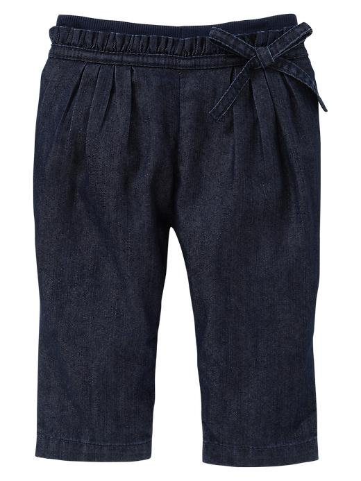 Gap Knit-Waist Denim Bow Pants ($25)