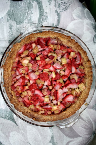A dessert even your ancestors would love! This strawberry-rhubarb pie is Paleo-friendly, made without grains or refined sugar.