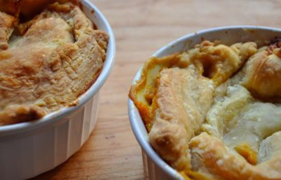 Pie for dinner has its place — especially when it means getting your own individual serving! There is something comforting about a warm and flaky vegetarian pot pie on a chilly night, especially when full of good-for-you ingredients like beans and veggies.