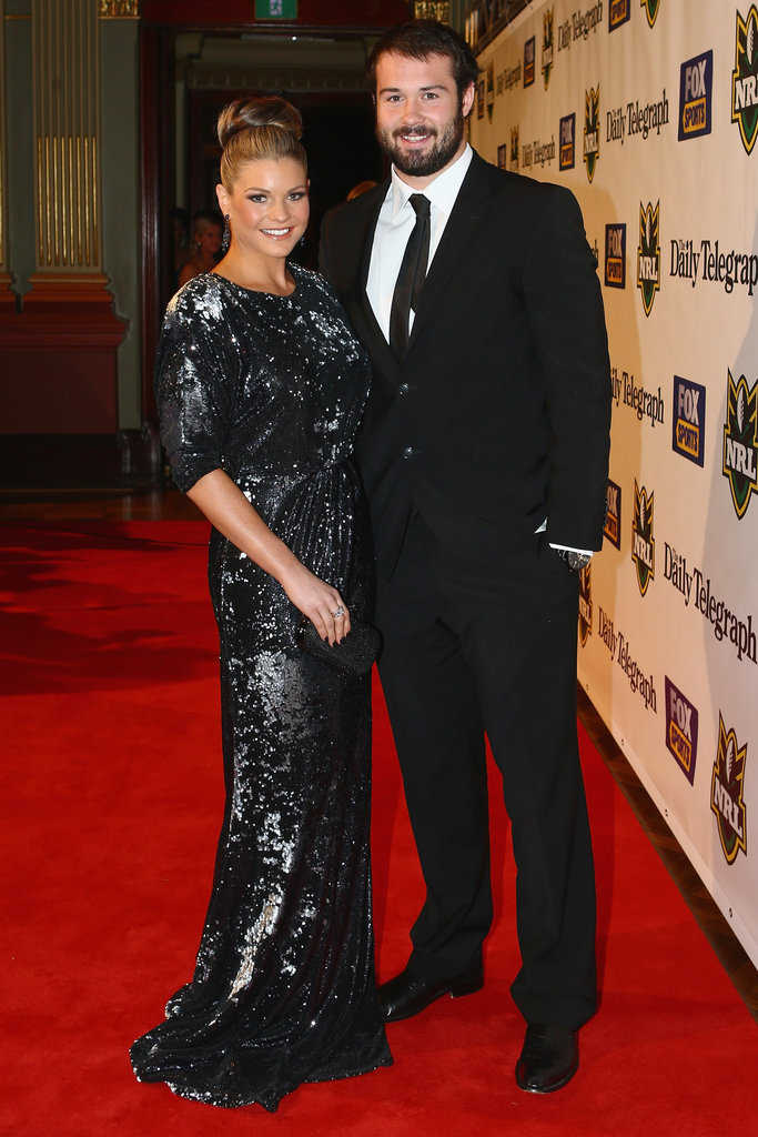 Sarah Callaway and Aaron Woods at the 2012 Dally M Awards.
