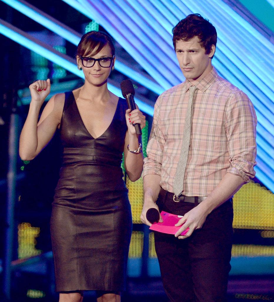 Rashida Jones and Andy Samberg presented at the VMAs together.
